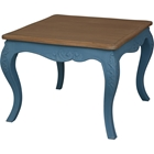 Ashbury Altesse End Table - Square, Antique Blue