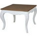 Ashbury Altesse End Table - Square, Antique White - INTC-PS-ALT-02-AW