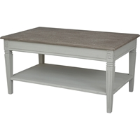Ashbury Arte Coffee Table - 1 Shelf, Antique Gray