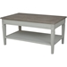 Ashbury Arte Coffee Table - 1 Shelf, Antique Gray - INTC-PS-ARE-16-AG