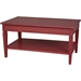 Ashbury Arte Coffee Table - 1 Shelf, Antique Red - INTC-PS-ARE-16-AR