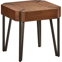 Hamburg Wood End Table - Canyon Oak Top