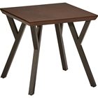 Hamburg End Table - Canyon Oak Top