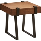 Hamburg End Table - Square, Canyon Oak Top