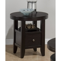 Marlon Round End Table - Wenge