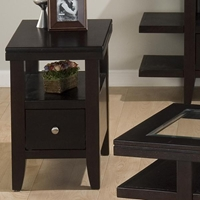 Marlon Rectangle Chairside Table - Wenge