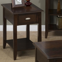 Merlot Chairside Table - 1 Drawer, 1 Shelf