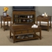Medium Brown Cocktail Table - Caster, 2 Drawers - JOFR-1031-1