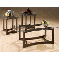 Bellingham 3 Pieces Occasional Tables Set - Glass Top