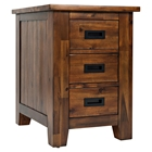 Coolidge Corner 3-Drawer Cabinet Chairside Table