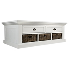 Natural Origins Cocktail Table - 2 Drawers, Chatham White