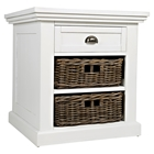 Natural Origins End Table - 1 Drawer, Chatham White