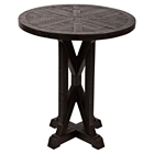 "Pacific Heights 22"" Round End Table - Chestnut"
