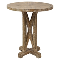"Pacific Heights 22"" Round End Table - Bisque"