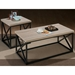 Orion Occasional Tables Set - Metal Base, X-Side, Ash Veneer Top - JOFR-172