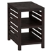 Rich Roast Slatted Chairside Table - JOFR-214-7