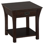 Artisan End Table - Square, 1 Drawer