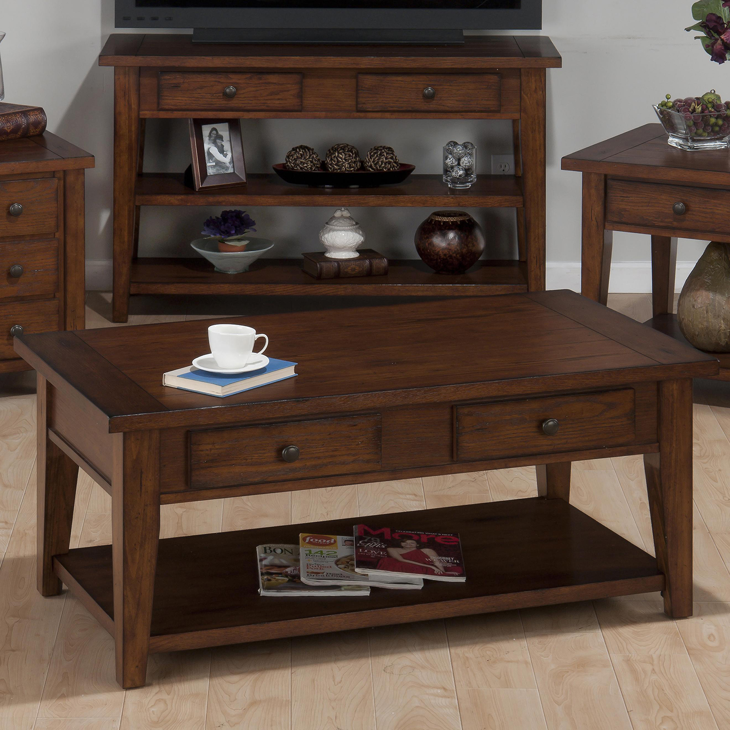Clay County Cocktail Table - Oak