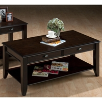 Bartley Cocktail Table - 2 Drawers, Oak