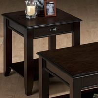 Bartley End Table - 1 Drawer, Oak
