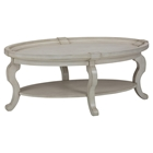 Sebastian Oval Cocktail Table - Creamy