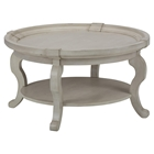 Sebastian Round Cocktail Table - Creamy