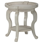 Sebastian Round End Table - Creamy
