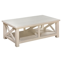 Madaket Cocktail Table - White, Reclaimed Pine