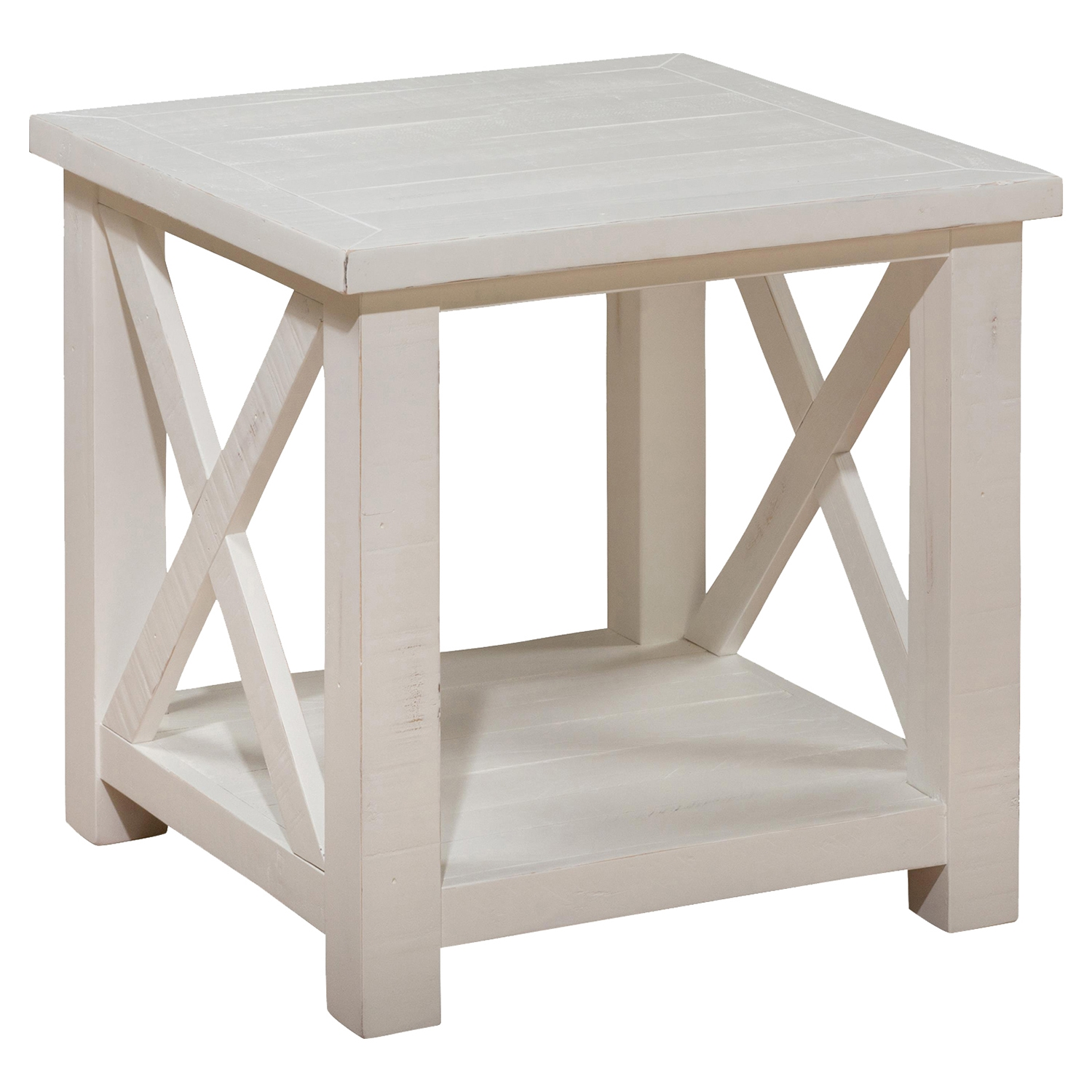 Madaket End Table - White, Reclaimed Pine - JOFR-649-3