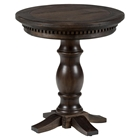 Geneva Hills Round Chairside Table - Rustic Brown