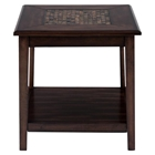 Baroque End Table - Mosaic Tile Inlay, Brown
