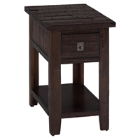 Kona Grove Chairside Table - Chocolate
