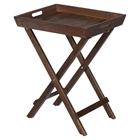 Urban Lodge Folding Accent Tray - Brown