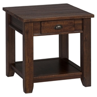 Urban Lodge End Table - Brown