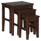 Urban Lodge Nesting Tables - Brown
