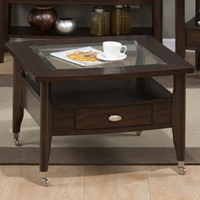 Montego Square Cocktail Table - Merlot