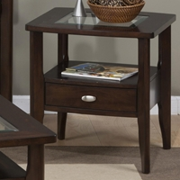 Montego Square End Table - Merlot