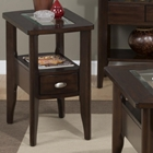 Montego Chairside Table - 1-Drawer, Merlot