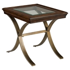 Ashland Square End Table - Rich Chocolate