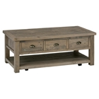 Slater Mill Rectangular Cocktail Table - Brown