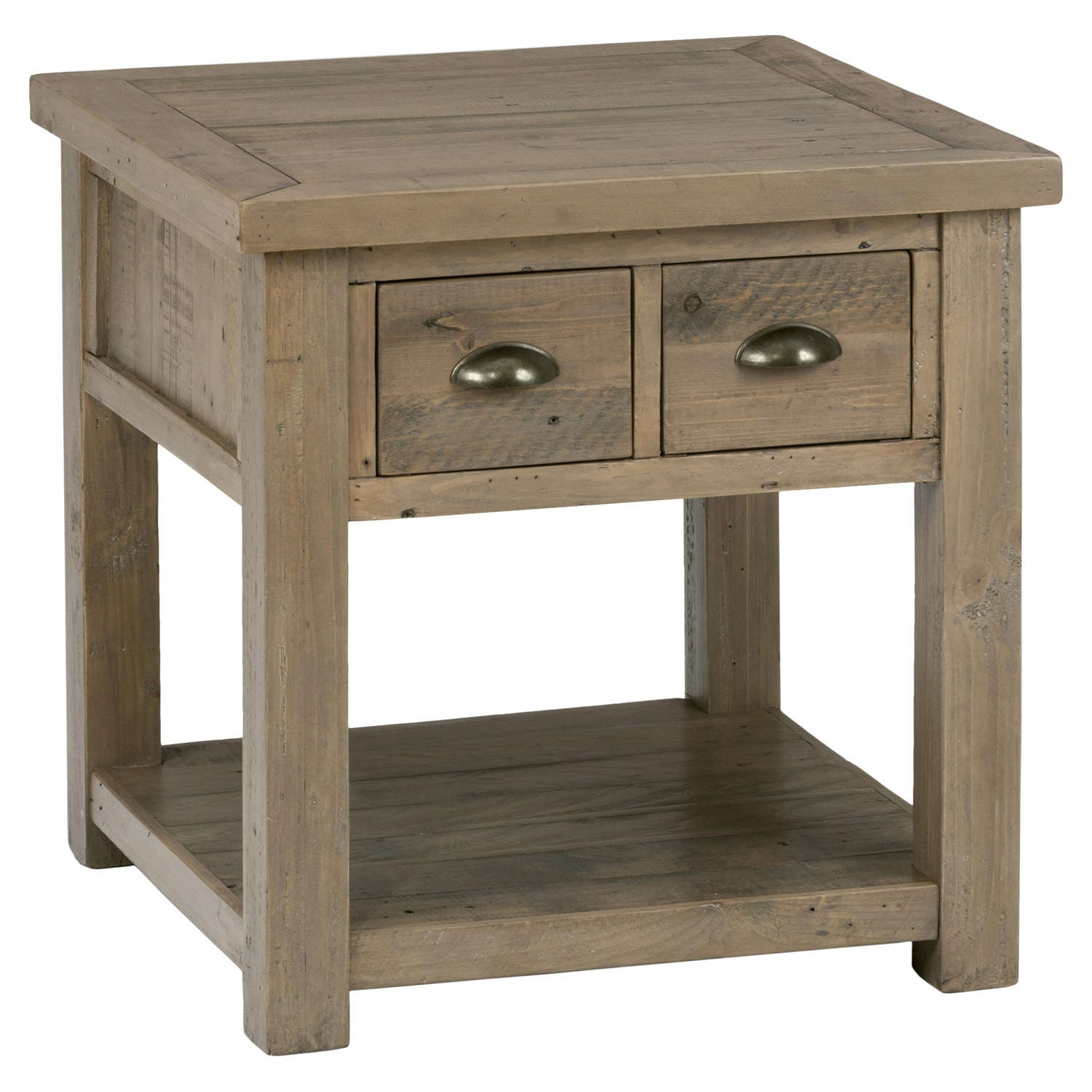 Slater Mill Square End Table - Brown