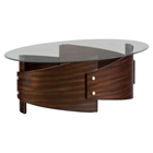 Waterville Oval Cocktail Table - Walnut