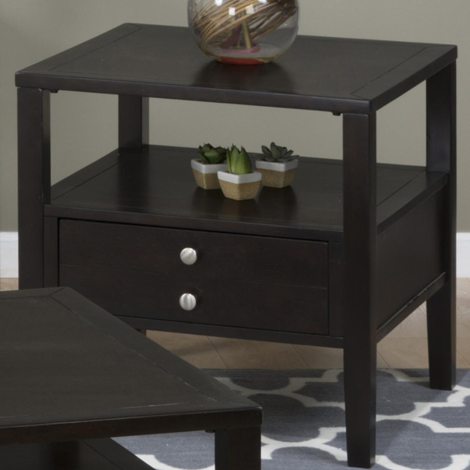 Hamilton End Table - Espresso - JOFR-975-3