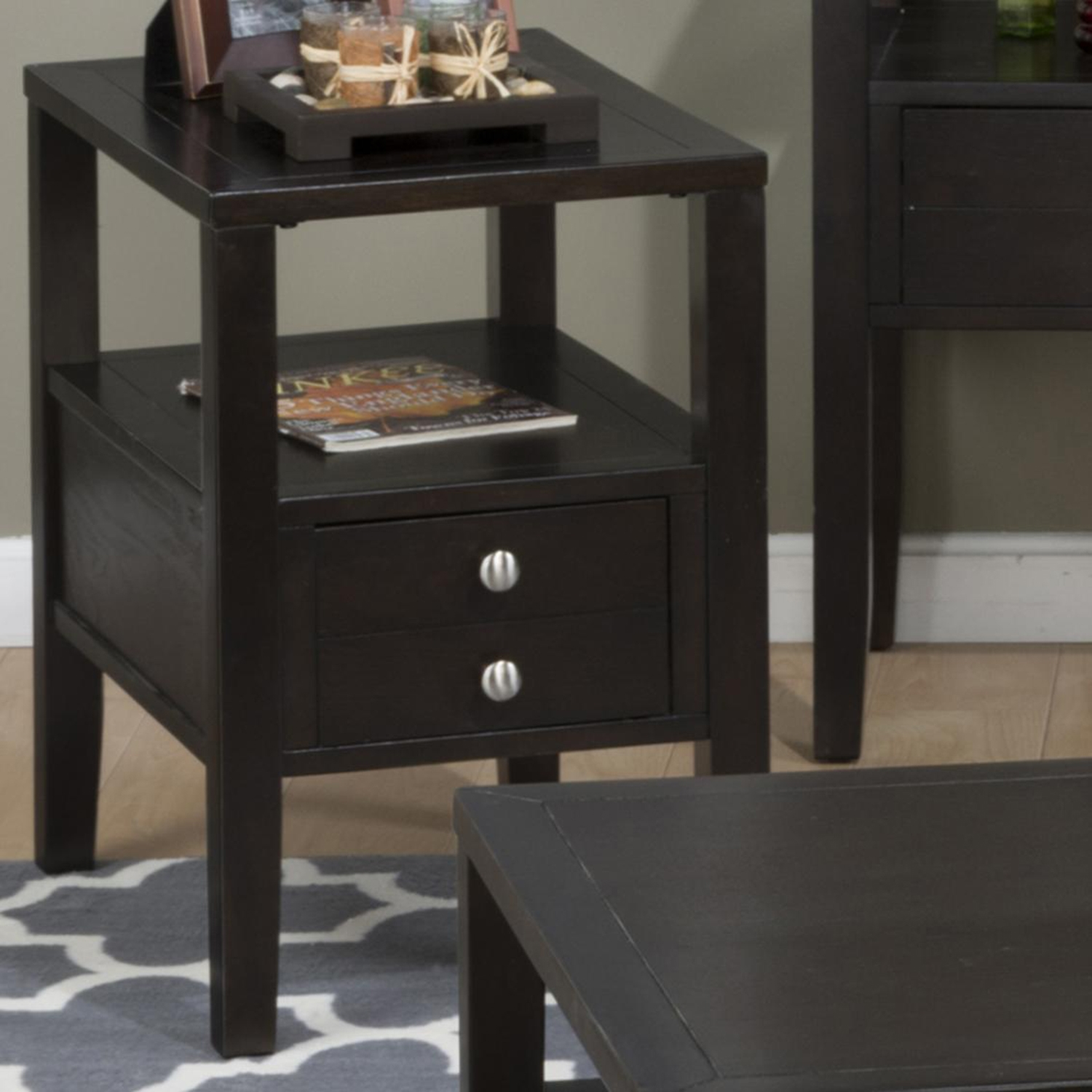 Hamilton Chairside Table - Espresso