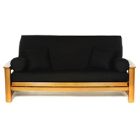 Black Full Size Futon Cover