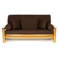 Brown Full Size Futon Cover