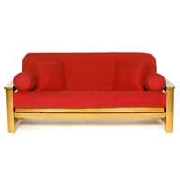 Red Futon Cover - Full Size