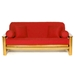 Red Futon Cover - Full Size - LSC-A-RED