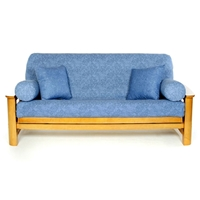Washed Denim Futon Cover - Full Size