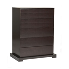 Zurich 5-Drawer Chest (Cappuccino)